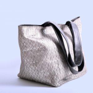 Shopper oder Handtasche BoraBora in silber