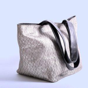 Handtasche oder Shopper BoraBora in Silber