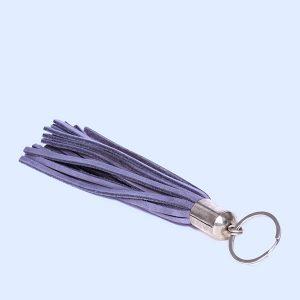 Schlüsselanhänger Keyring Leather grau