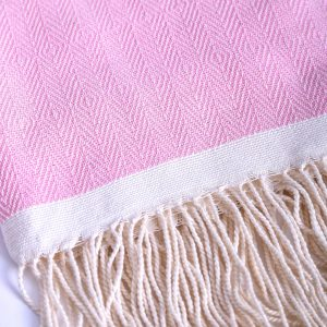Fouta deluxe rosa details